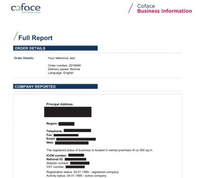 Coface Firmenauskunft