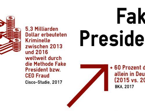 Fake President mit neuer Betrugsmasche